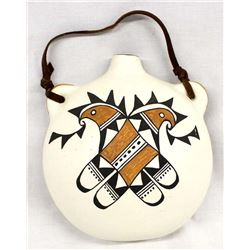 Acoma Ceramic Pottery Canteen by M. Chavez