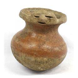 Pre Columbian Pottery Effigy Replica Jar