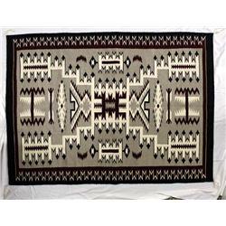 Native American Navajo Storm Pattern Wool Textile Rug by Arlene Johnson