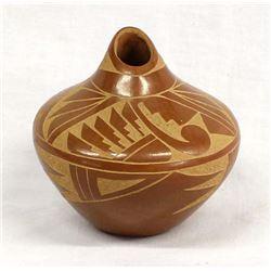 Jemez Carved Pottery Seed Jar by Ida Yepa