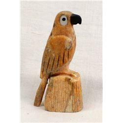 Zuni Carved Stone Parrot Fetish by Fenton Luna