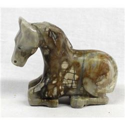 Zuni Carved Picasso Marble Horse Fetish