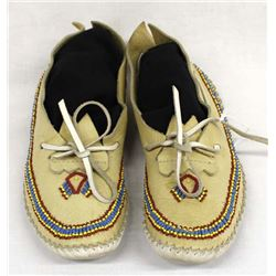 Native American Beaded Leather Moccasins