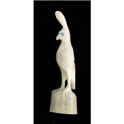 Zuni Carved Antler Quail Fetish by Maxx Laate