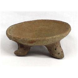 Pre Columbian Tripod Pottery Shallow Bowl