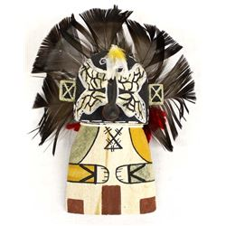 Hopi Butterfly Cradleboard Kachina by William G.