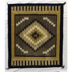 Native American Navajo Wool Textile Rug, Toadlena