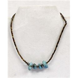 Vintage Navajo Child's Turquoise Nugget Necklace