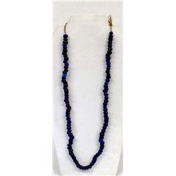 Rare Antique Cobalt Padre Trade Bead Necklace