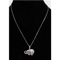 Italian Sterling Silver and Millefiori Necklace
