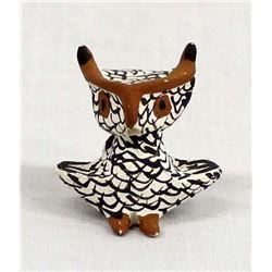Zuni Miniature Pottery Owl by Judy Shields