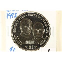 1995 LIBERIA $1 STAR TREK GENERATIONS CAPT. JAMES