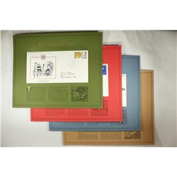 4 ASSORTED 1ST DAY ISSUE ENVELOPES AND STAMPS ON