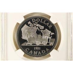 1981 CANADA TRANS-CANADA RAILWAY SILVER DOLLAR