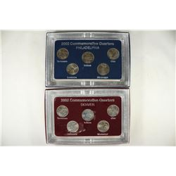 2002-P & D STATE QUARTER SETS WITH BOXES