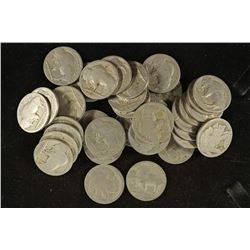 ROLL OF 40- NO DATE BUFFALO NICKELS