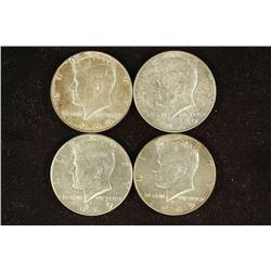 1966-P & 3-1969-D 40% SILVER JOHN F. KENNEDY 1/2'S