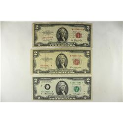 1953 & 1953-C $2 US RED SEAL NOTES AND 1976