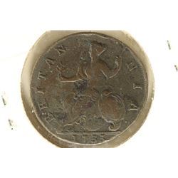1733 GREAT BRITAIN HALF PENNY