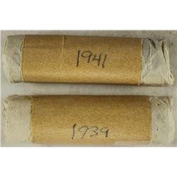 2 SOLID DATE ROLLS OF GREAT BRITAIN FARTHINGS