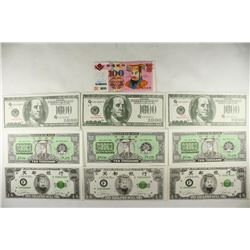 10 ASSORTED CHINESE HELL BANK NOTES CRISP UNC