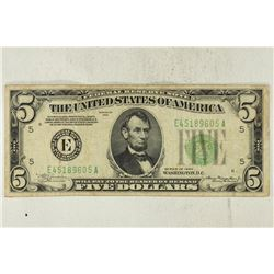 1934 $5 GREEN SEAL FRN
