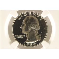 1964 WASHINGTON SILVER QUARTER NGC PF68