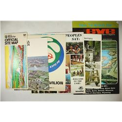 6 ASSORTED EXPO' 74 WORLDS FAIR PIECES. OFFICIAL