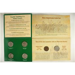 2 US COIN SETS AMERICAN NICKELS OF THE 20TH