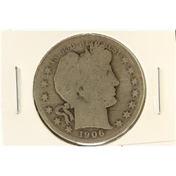 1906-S BARBER HALF DOLLAR