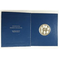 1976 NOBEL PRIZE VICTORY MEDAL OVER 2 OUNCE