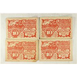 4-1921 TEN HELLERS