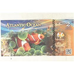 2016 ATLANTIC OCEAN 2 OCEAN DOLLARS ANEMONEFISH
