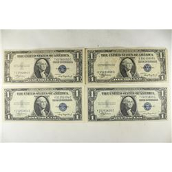 4-1935-A $1 SILVER CERTIFICATES BLUE SEALS