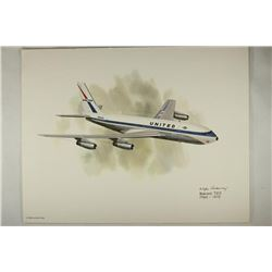 COLOR 8 1/2'' X 11'' FRAMEABLE AIRPLANE PRINT