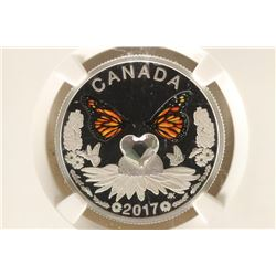 2017 CANADA SILVER $3 WITH HEART SHAPED