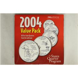 2004-P & D ALL 5 STATE QUARTERS SETS IN SEALED