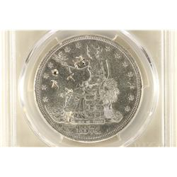 1874-S US TRADE DOLLAR WITH CHOP MARKS PCGS