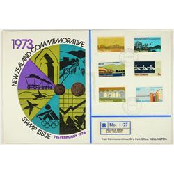 1973 NEW ZEALAND COMMEMORATIVE STAMP ISSUE PNC
