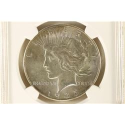 1935 PEACE SILVER DOLLAR NGC MS63
