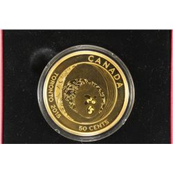 2015 CANADA 50 CENT GOLD PLATED COIN TORONTO