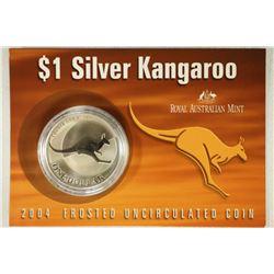 2004 AUSTRALIAN $1 SILVER KANGAROO FROSTED UNC