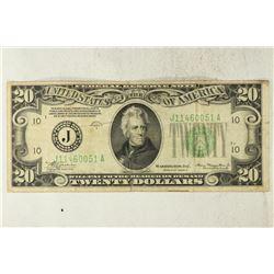 1934-A $20 FRN GREEN SEAL