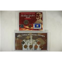2 US COIN SETS, THE 7 TYPES OF LINCOLN CENTS AND