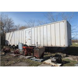 42' Semi Freight Trailer for Storage - Rear & Side Door