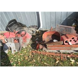 2 Pallets - Tractor Parts, Massey Fenders, Dash Seat, PTO Shaft Plus More