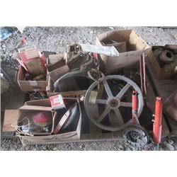 Pulleys, Blow Torcxh, Rope Tightener, & Circ Saw Blade