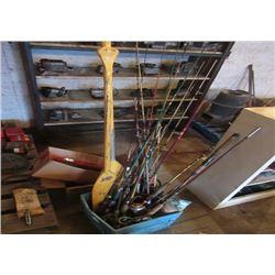 Fishing Rods, & Set of Paddles