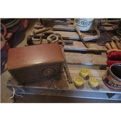Radio, Tobacco Tins & Horse Items