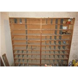 Pigeon Holed Shelf 6'x 6'